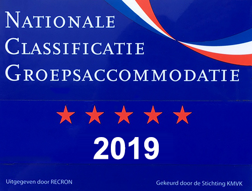Vijf sterren Nationale Classificatie Groepsaccommodatie